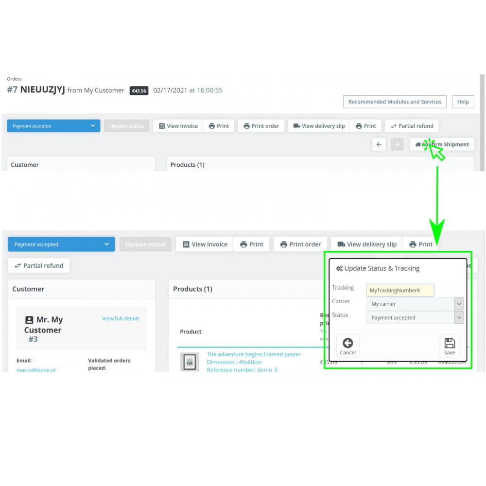 module - Orderbeheer - Status, Verzender & Tracking - Direct Status Update - 2