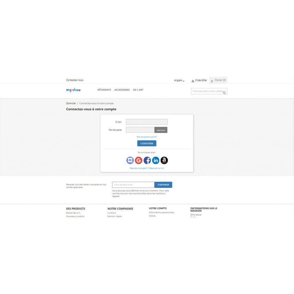 module - Boutons Login & Connect - Social Login Connect, s'inscrire via Google, Apple 25+ - 2