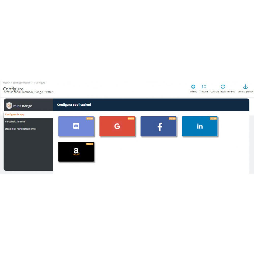 module - Login/Connessione - Accesso social Connessione, registrazione Google 25+ - 2