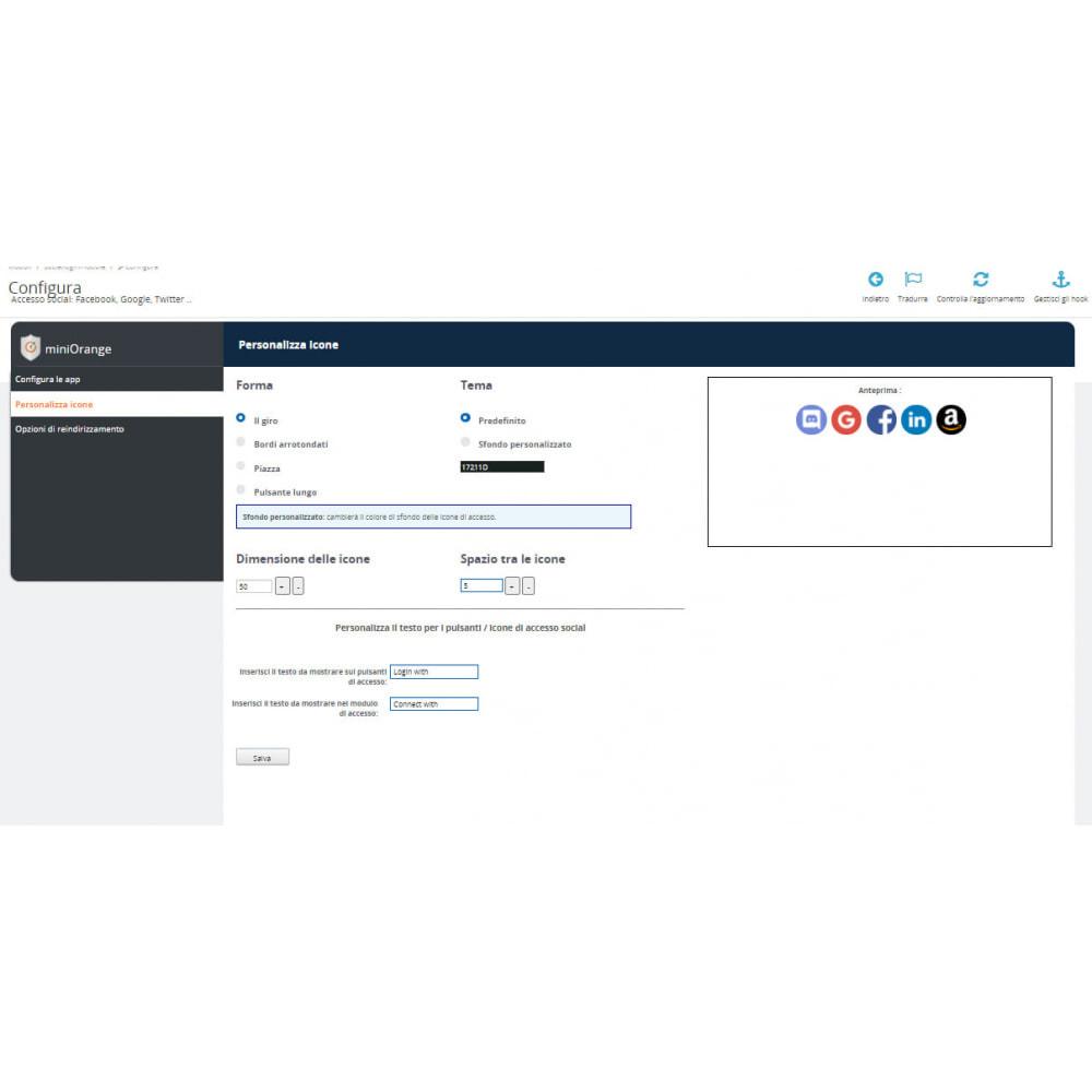 module - Login/Connessione - Accesso social Connessione, registrazione Google 25+ - 3