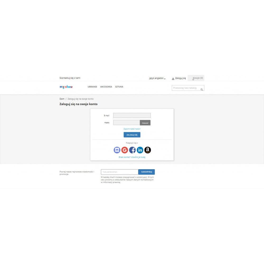 module - Przyciski do logowania  & Connect - logowanie społecznościowe przez Google, Apple 25+ - 2