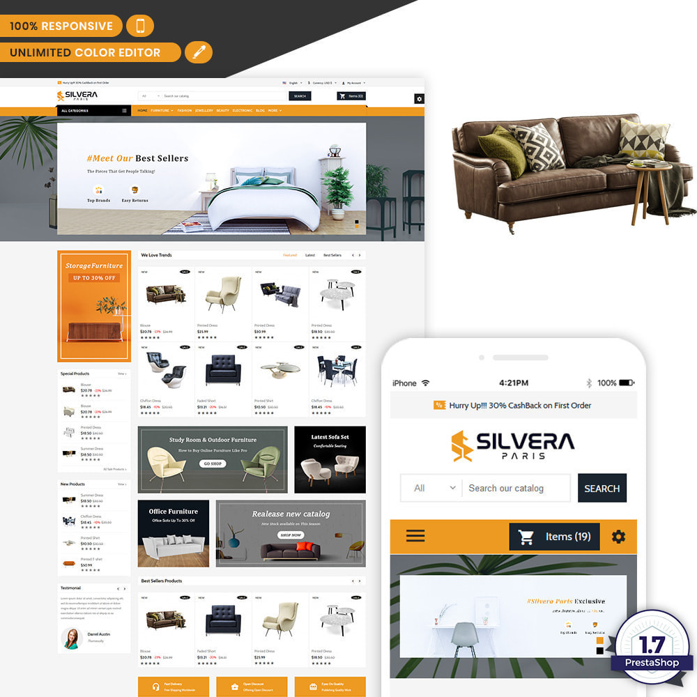 theme - Casa & Giardino - Silvera - Moden Furniture Store - 1