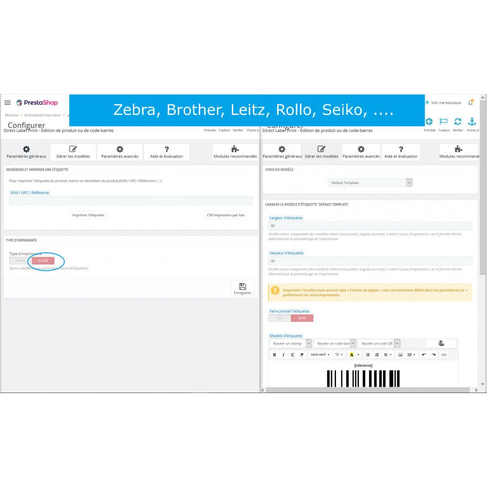 module - Préparation & Expédition - Étiquettes de produits/code-barres - DirectLabelPrint - 7