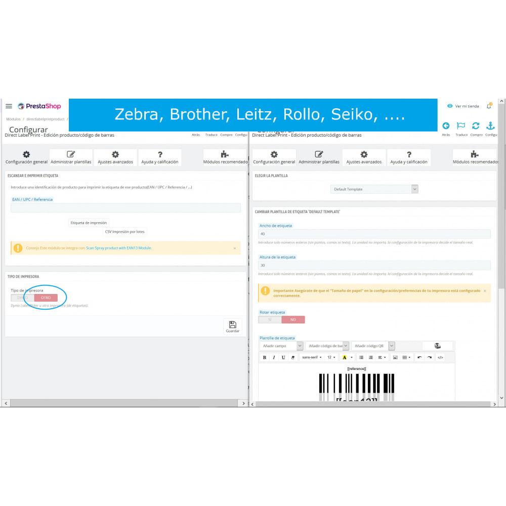 module - Preparazione & Spedizione - Etichette Prodotti / Codici a barre - DirectLabelPrint - 7