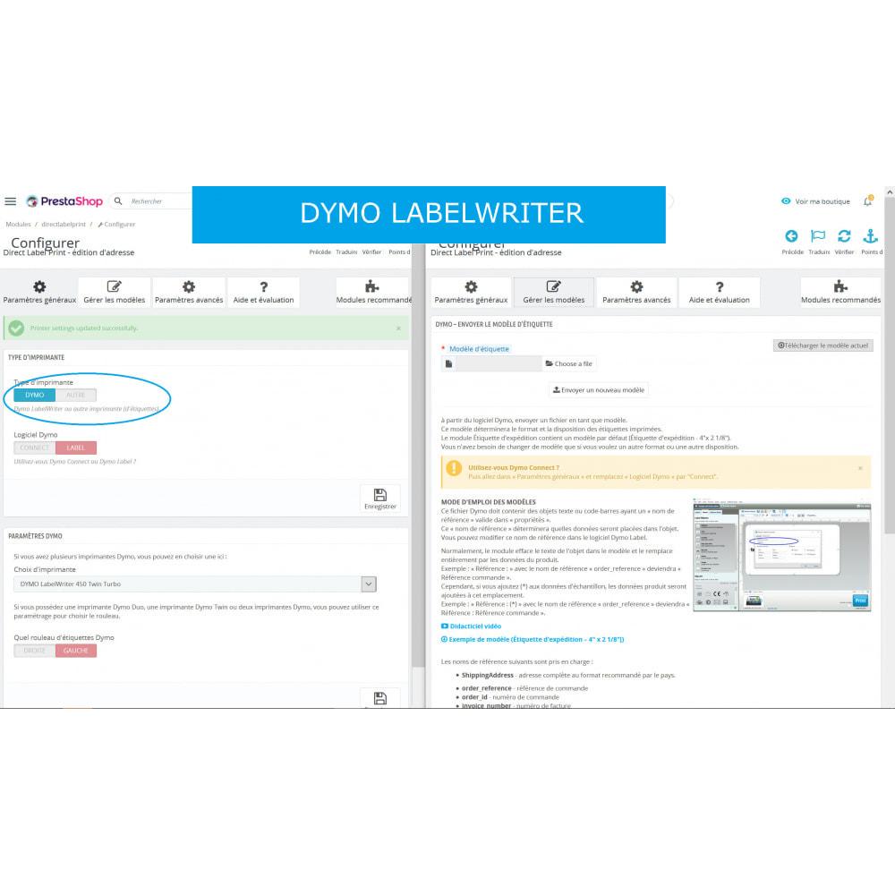module - Préparation & Expédition - Étiquettes d'adresse/de commande - Direct Label Print - 6