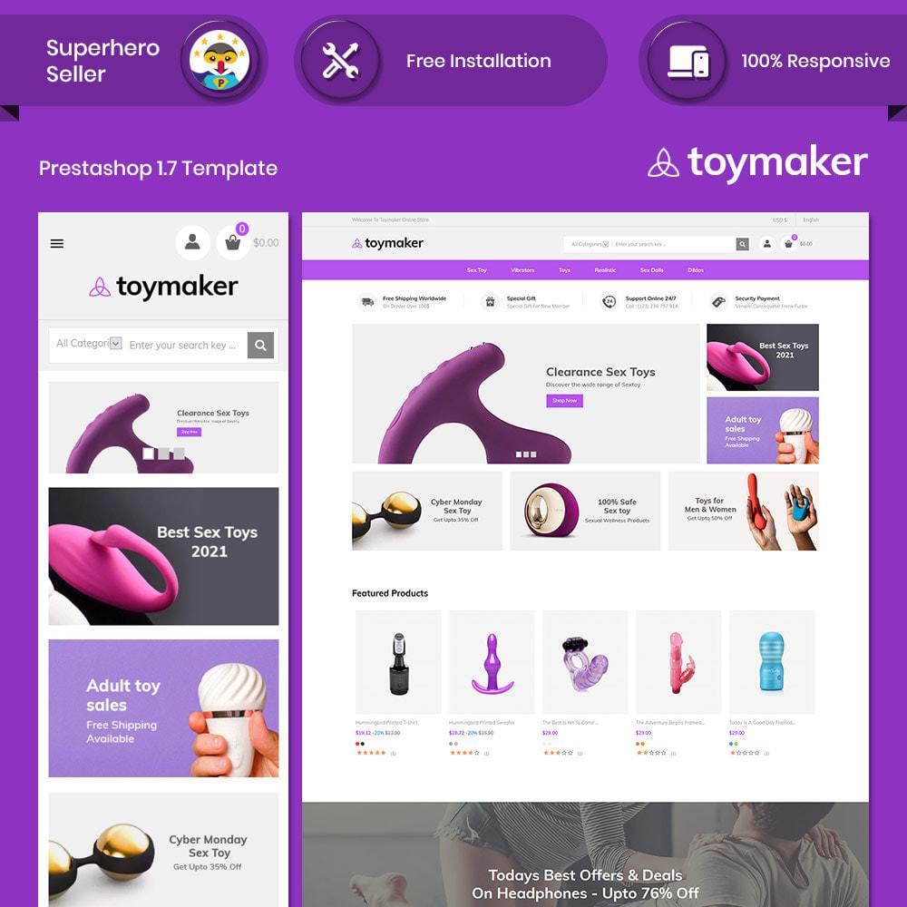 theme - Lingerie & Adultos - Toymaker Adult  - Sex Toys Dildo Store - 1