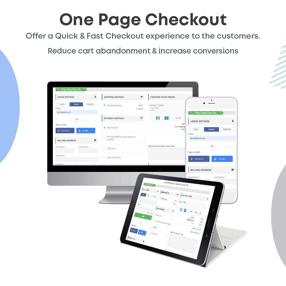 module - Express Checkout Process - One Page Checkout, Social Login & Mailchimp - 1