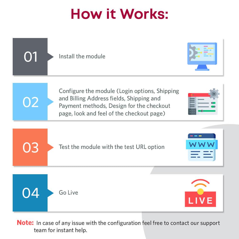module - Express Checkout Process - One Page Checkout, Social Login & Mailchimp - 3