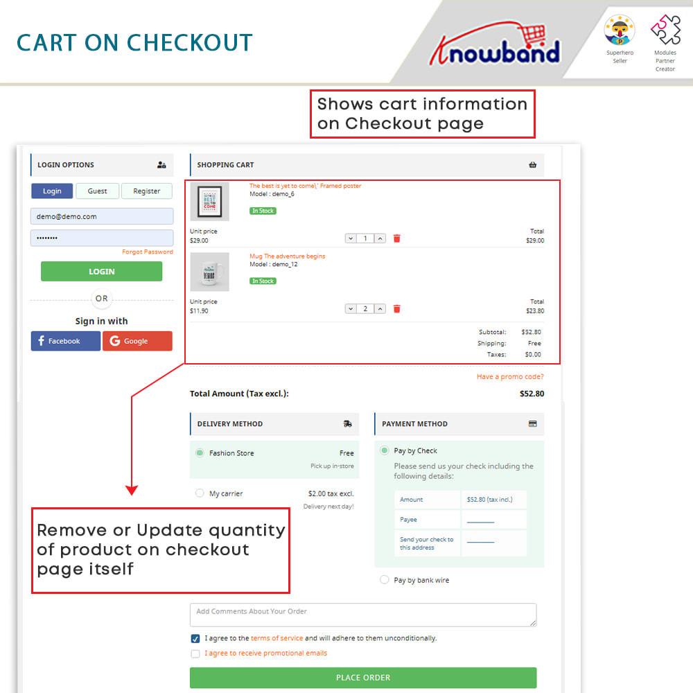 module - Express Checkout Process - One Page Checkout, Social Login & Mailchimp - 6
