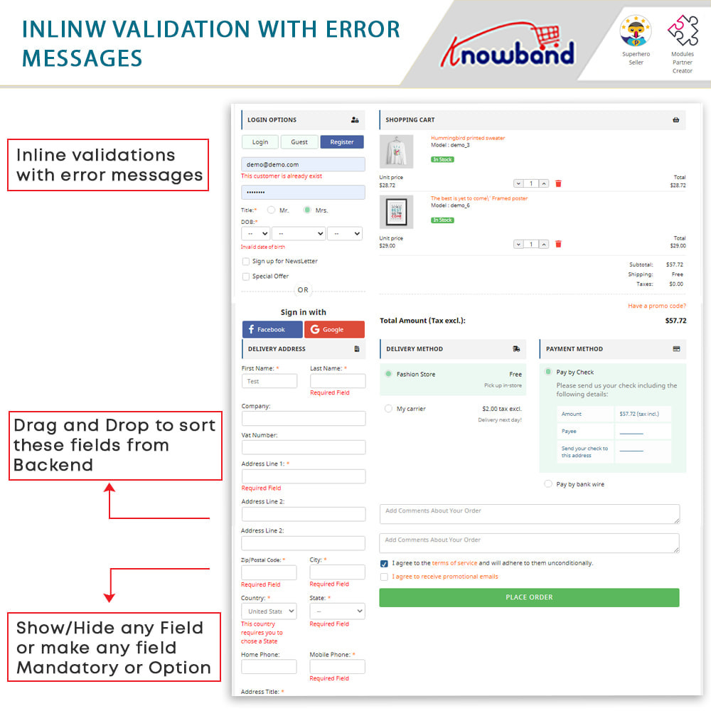 module - Express Checkout Process - One Page Checkout, Social Login & Mailchimp - 8