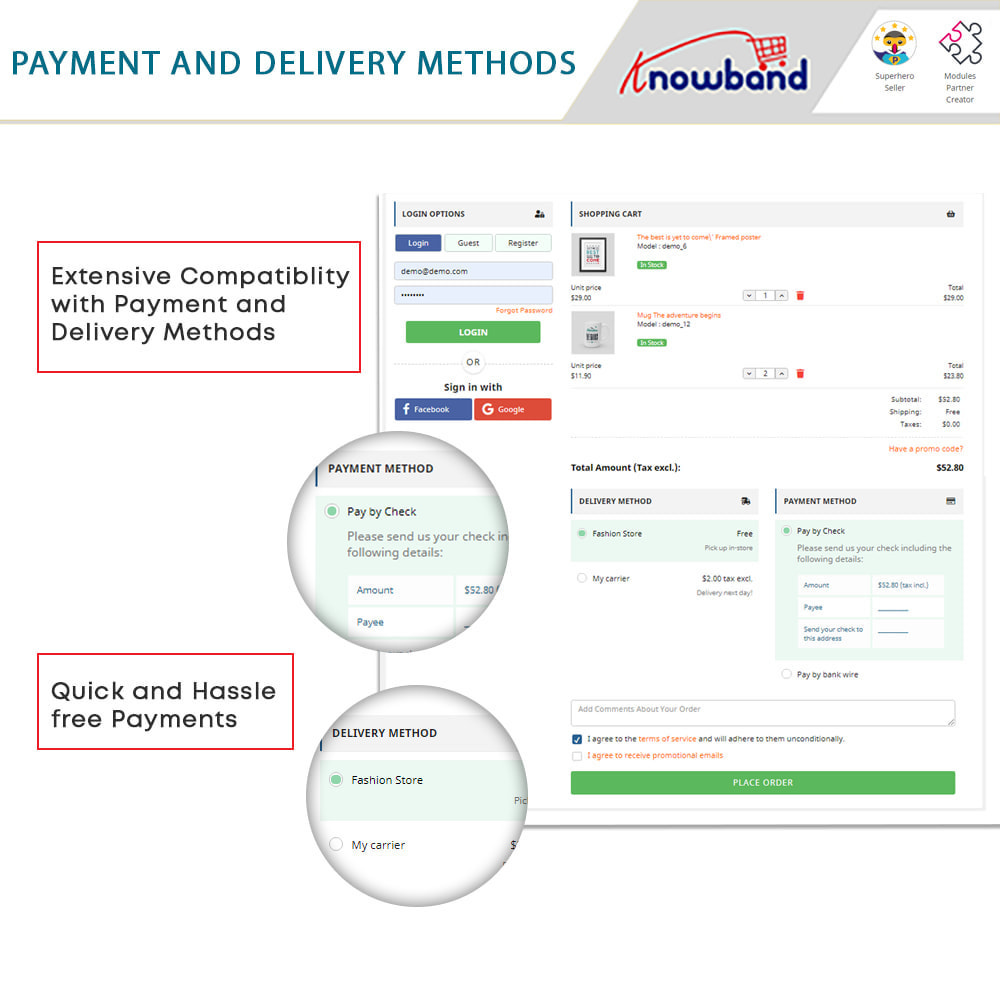 module - Express Checkout Process - One Page Checkout, Social Login & Mailchimp - 10