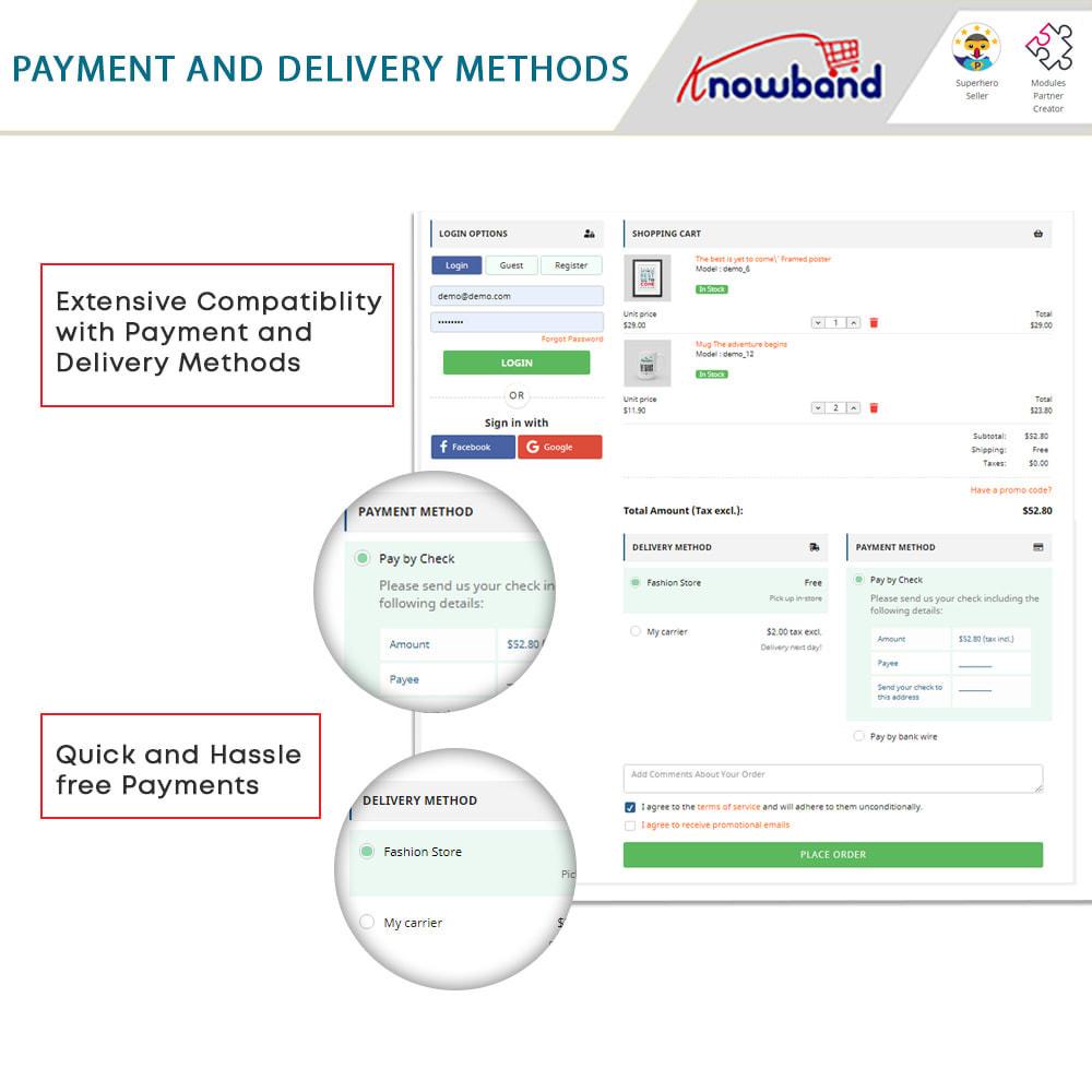 module - Express Checkout Process - One Page Checkout, Social Login & Mailchimp - 12