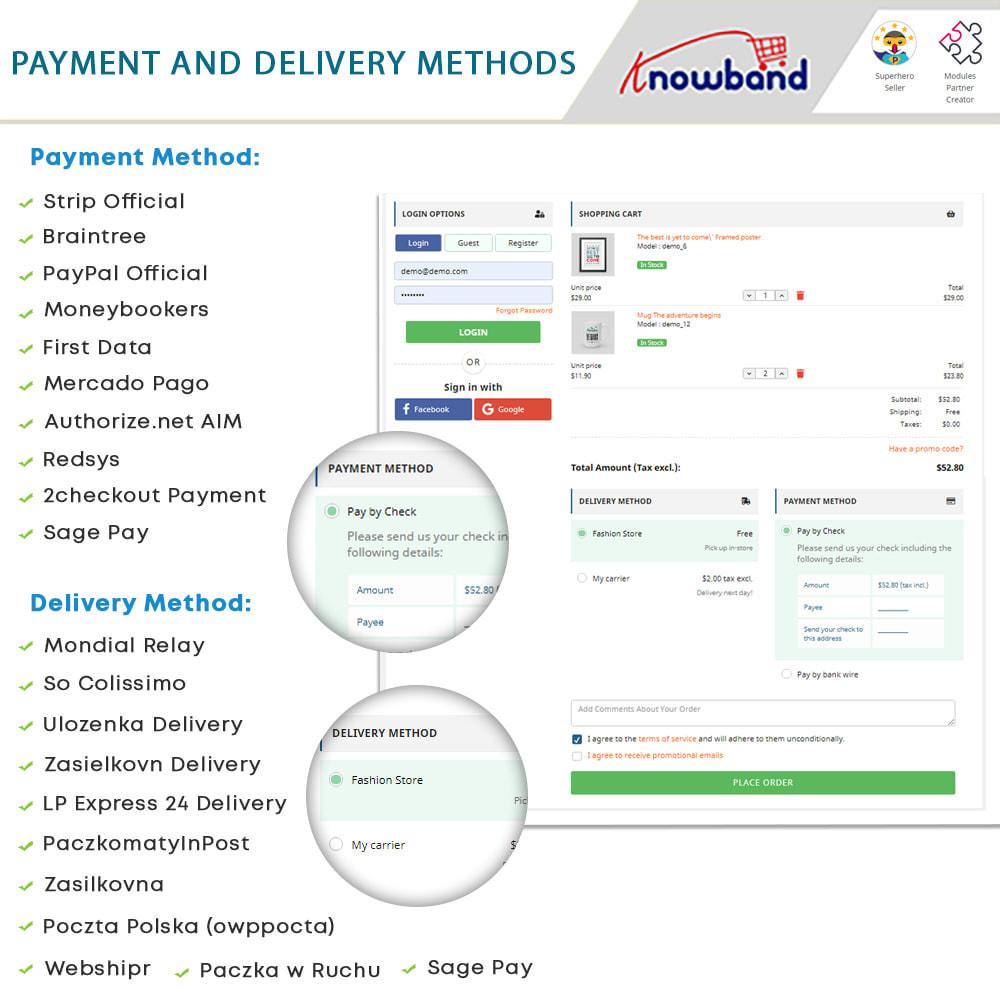 module - Express Checkout Process - One Page Checkout, Social Login & Mailchimp - 14