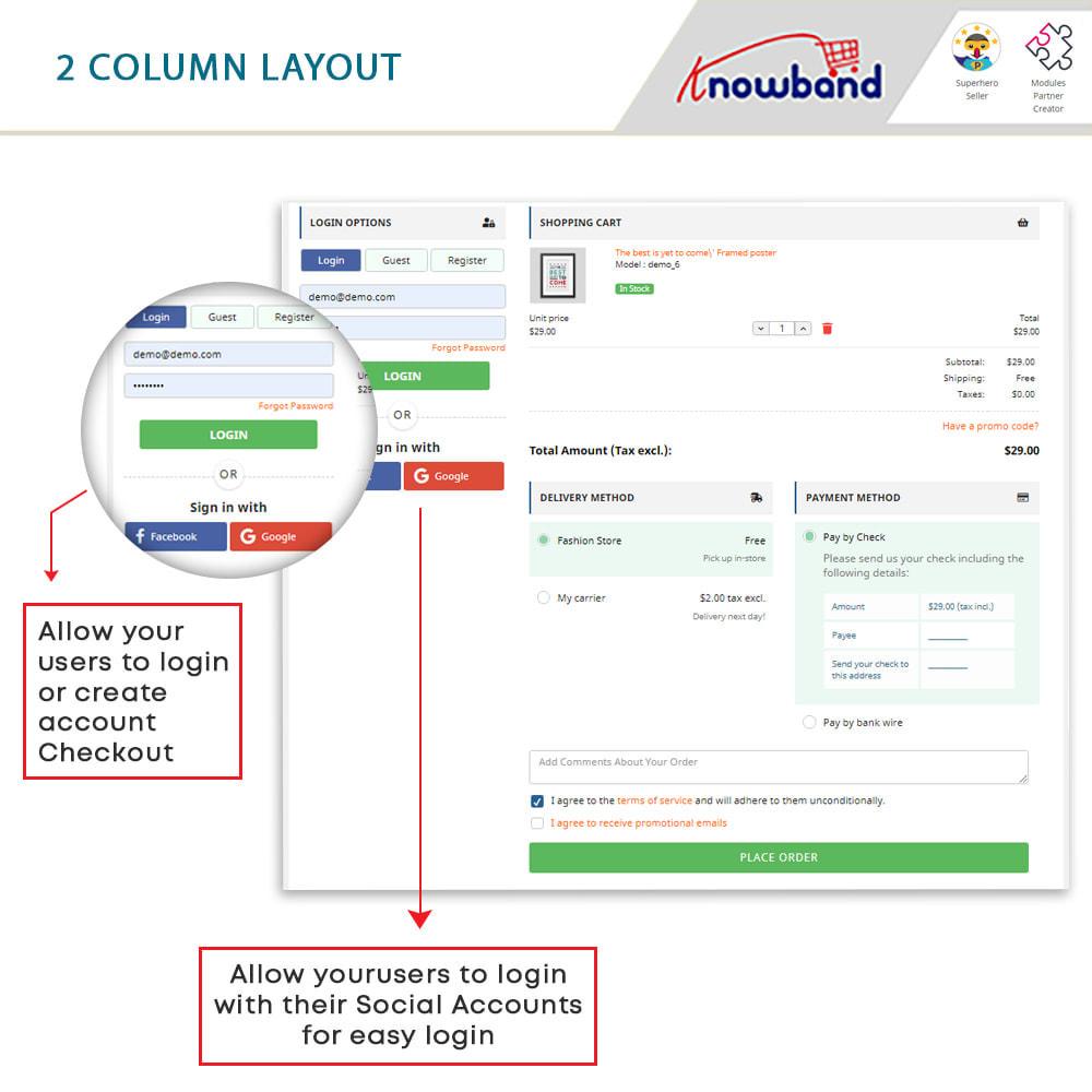 module - Express Checkout Process - One Page Checkout, Social Login & Mailchimp - 15