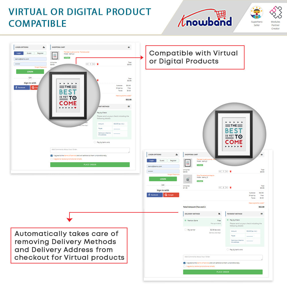module - Express Checkout Process - One Page Checkout, Social Login & Mailchimp - 16