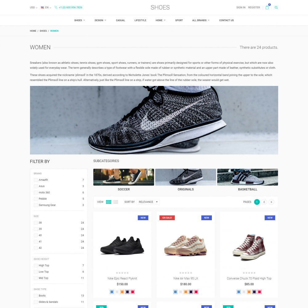 theme - Mode & Chaussures - World Footwear - Magasin de Chaussures - 4