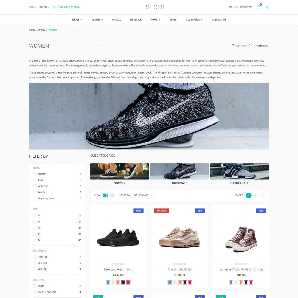 theme - Мода и обувь - World Footwear - Магазин Обуви - 4