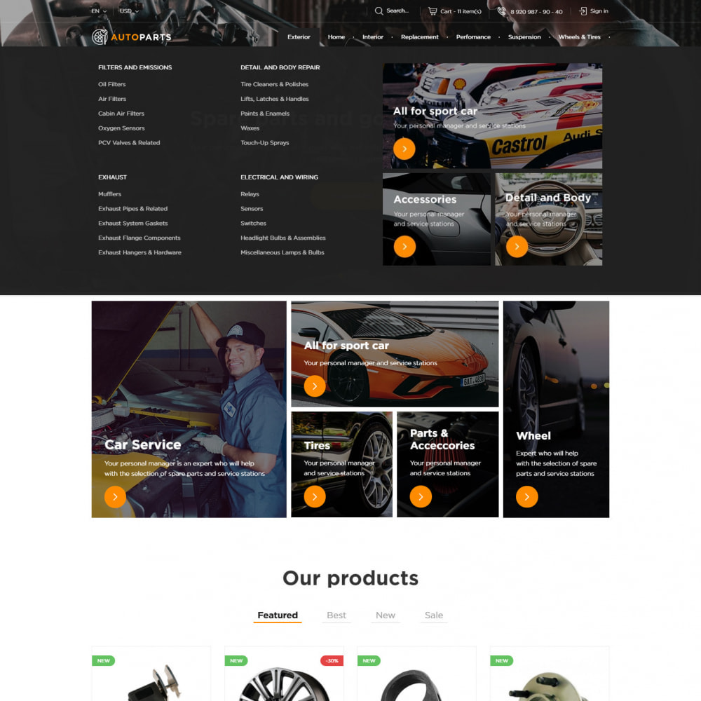 theme - Auto's & Motoren - Auto-Onderdelen Winkel - 5