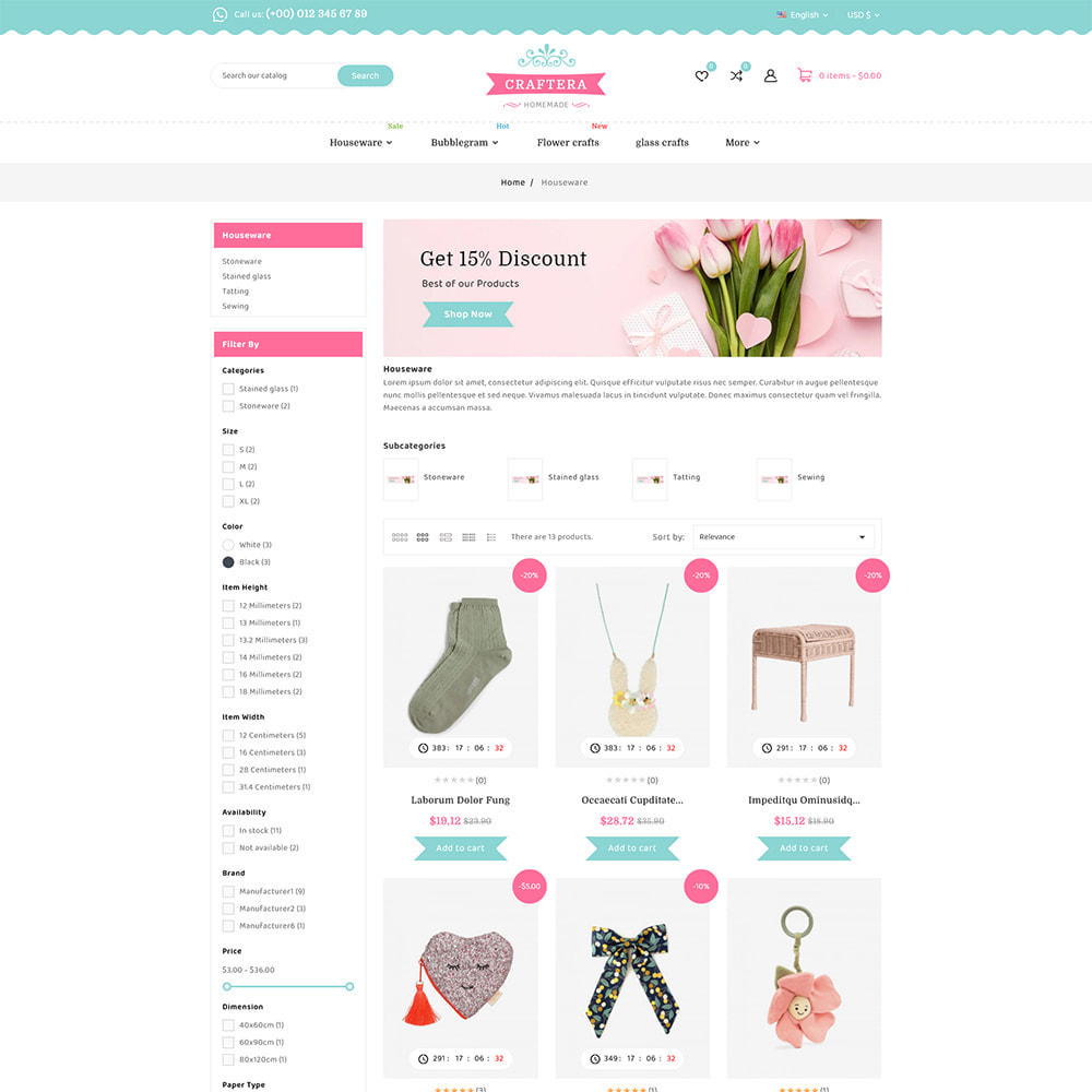theme - Подарки, Цветы и праздничные товары - Carftera - Gifts Flowers Celebrations Store - 4