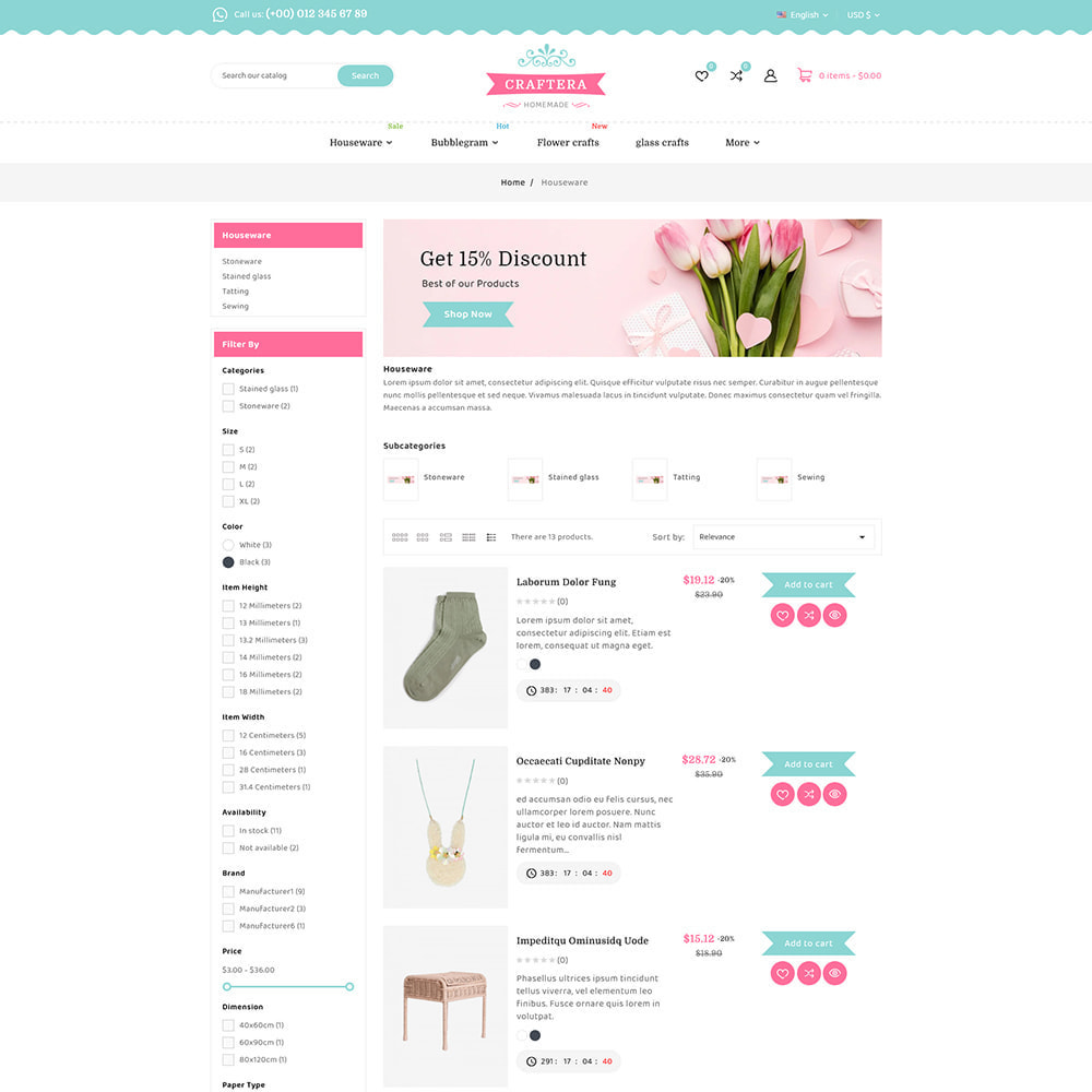 theme - Prezenty, Kwiaty & Uroczystości - Carftera - Gifts Flowers Celebrations Store - 8