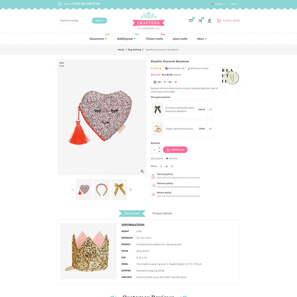 theme - Подарки, Цветы и праздничные товары - Carftera - Gifts Flowers Celebrations Store - 9
