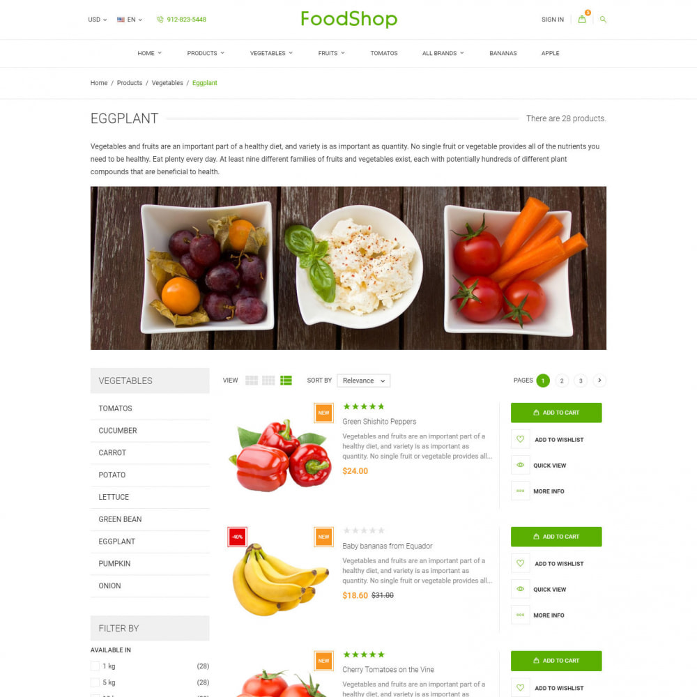 theme - Alimentation & Restauration - Organic Garden - Food Store - 6