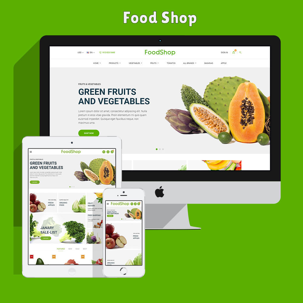 theme - Eten & Restaurant - Organic Garden - Food Store - 3