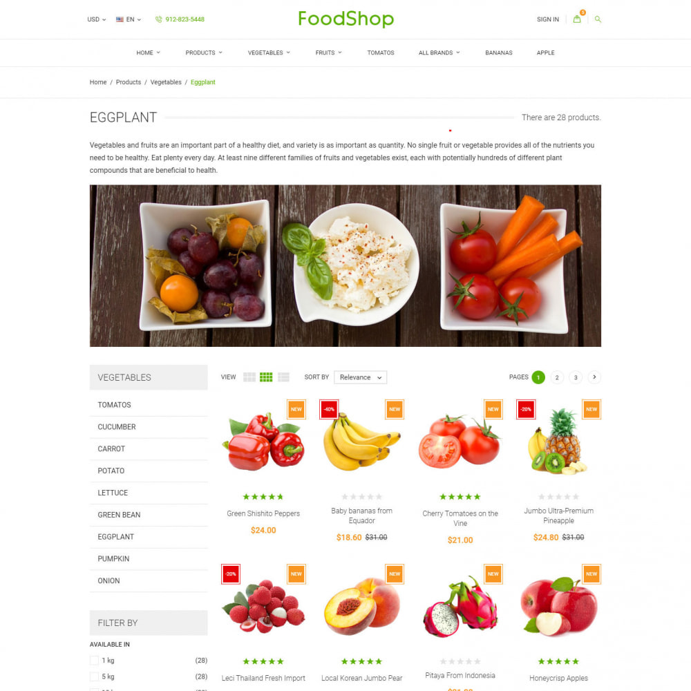theme - Alimentos & Restaurantes - Organic Garden - Food Store - 5