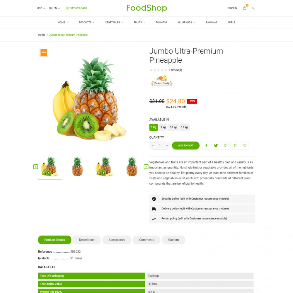 theme - Alimentos & Restaurantes - Organic Garden - Food Store - 7
