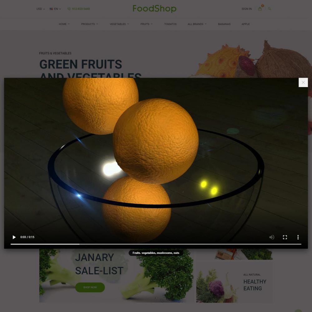 theme - Alimentos & Restaurantes - Organic Garden - Food Store - 11