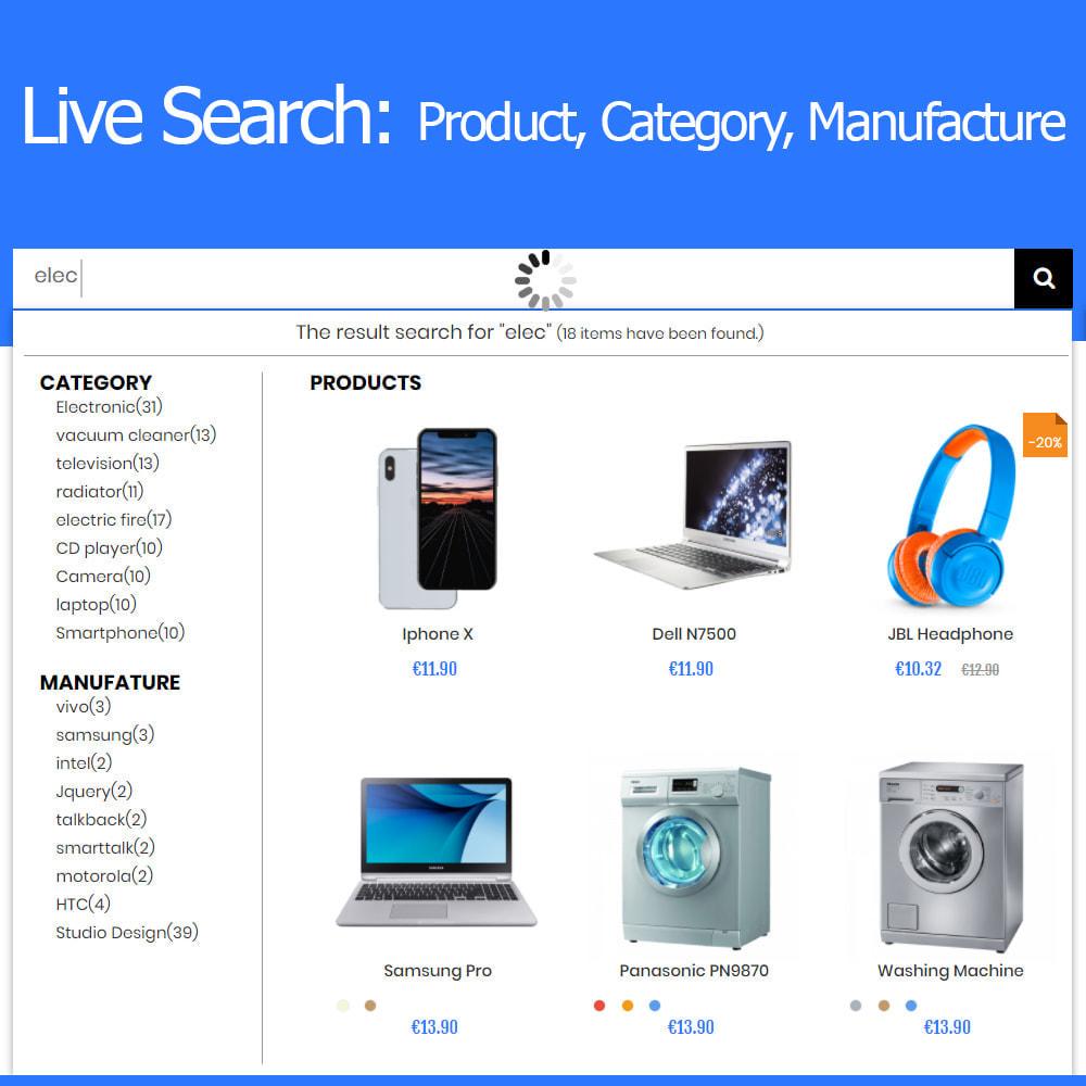 module - Поиск и фильтры - Live Search Auto Complete - 1
