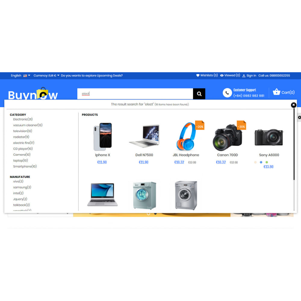 module - Поиск и фильтры - Live Search Auto Complete - 2