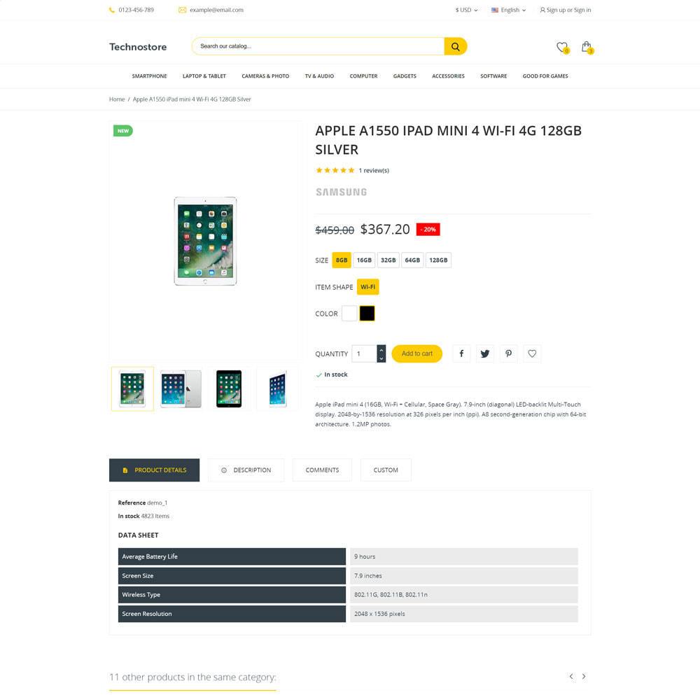 theme - Electronics & Computers - Technostore - Hi-Tech Online Store - 4