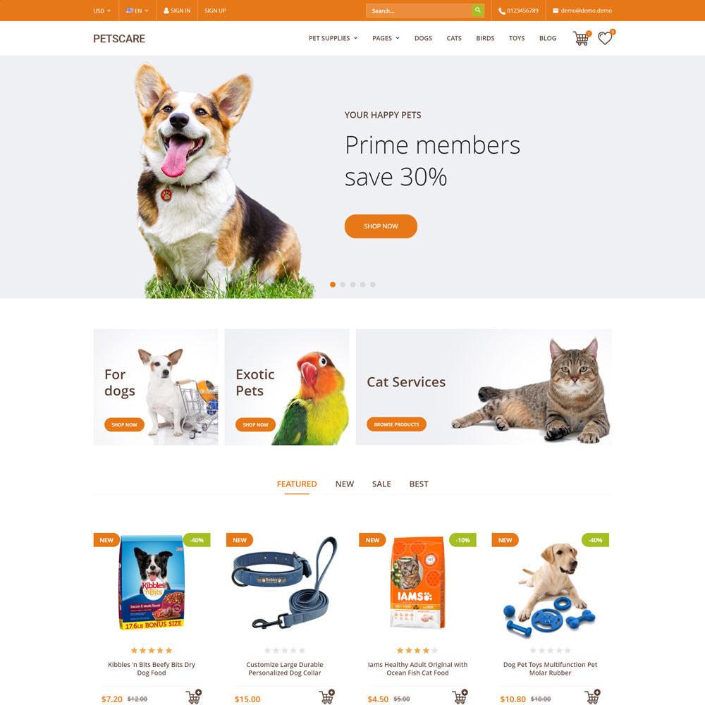 theme - Животные и домашние питомцы - PetsCare - Зоомагазин - 1