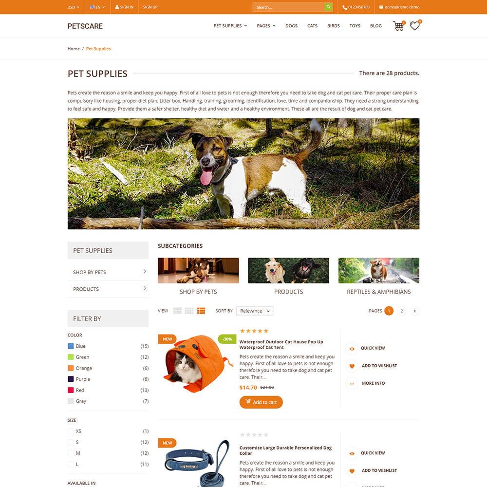 theme - Животные и домашние питомцы - PetsCare - Зоомагазин - 5