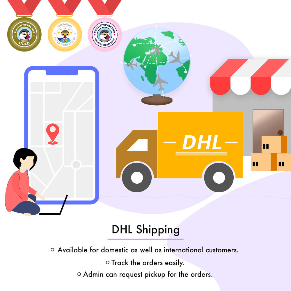 module - Transportadoras - DHL Shipping with Label Print | API Based Shipping - 1