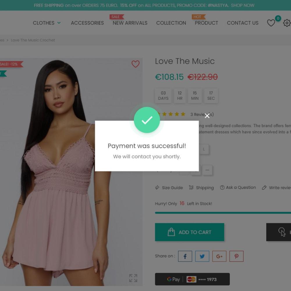 module - Pagamento por cartão ou por carteira - Google Pay - 1 Click Checkout - 4