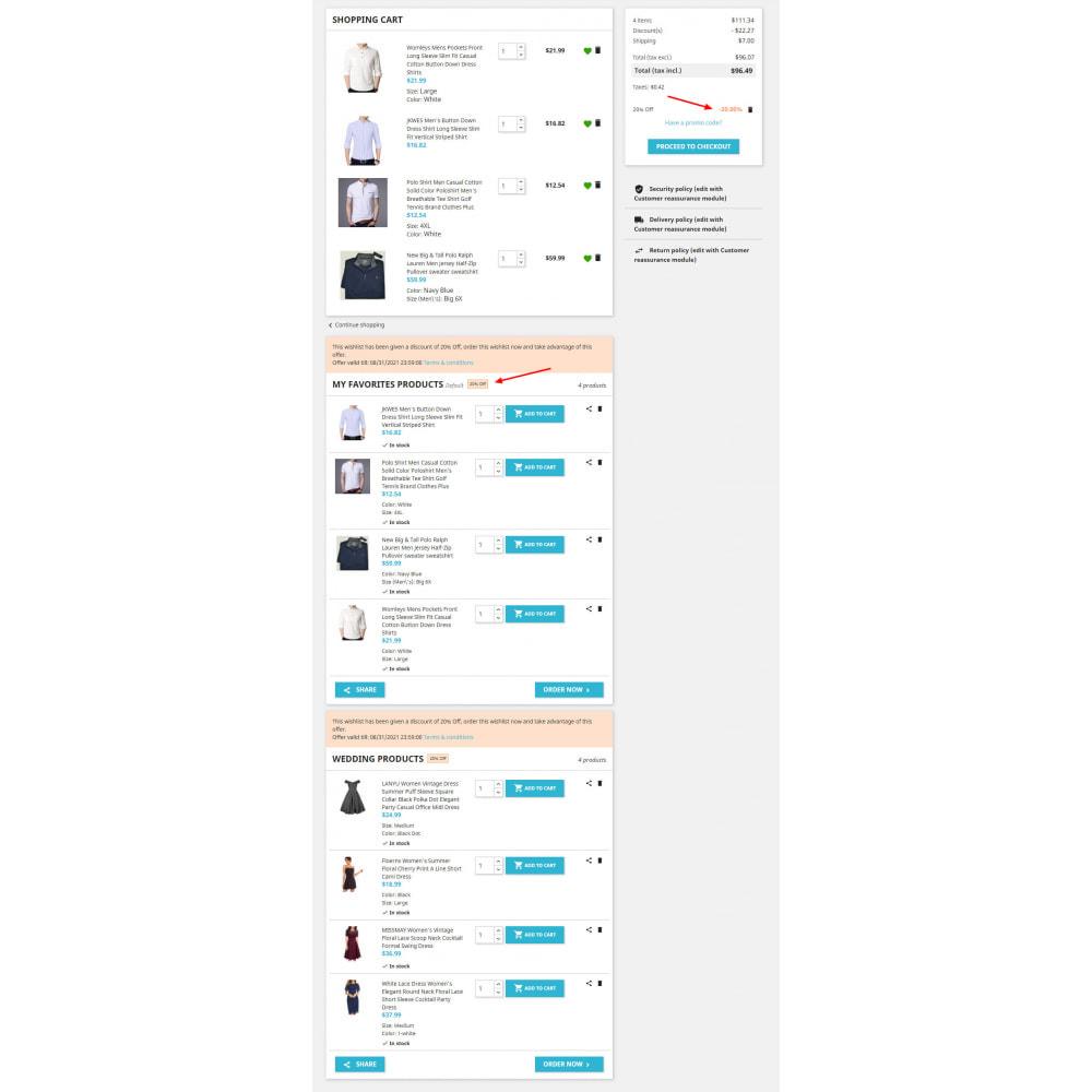 module - Список желаний и Подарочный купон - Advanced Multi Wishlist with Discounts and Notification - 5
