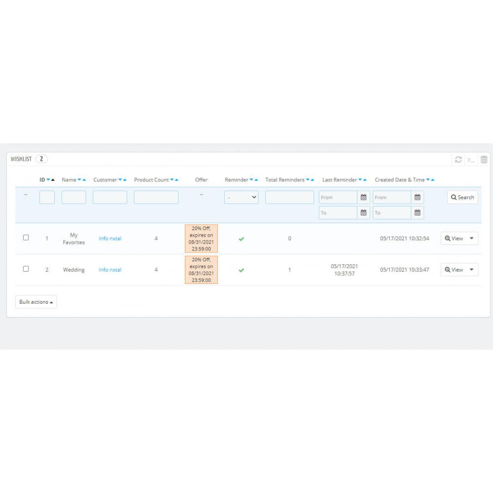 module - Список желаний и Подарочный купон - Advanced Multi Wishlist with Discounts and Notification - 7