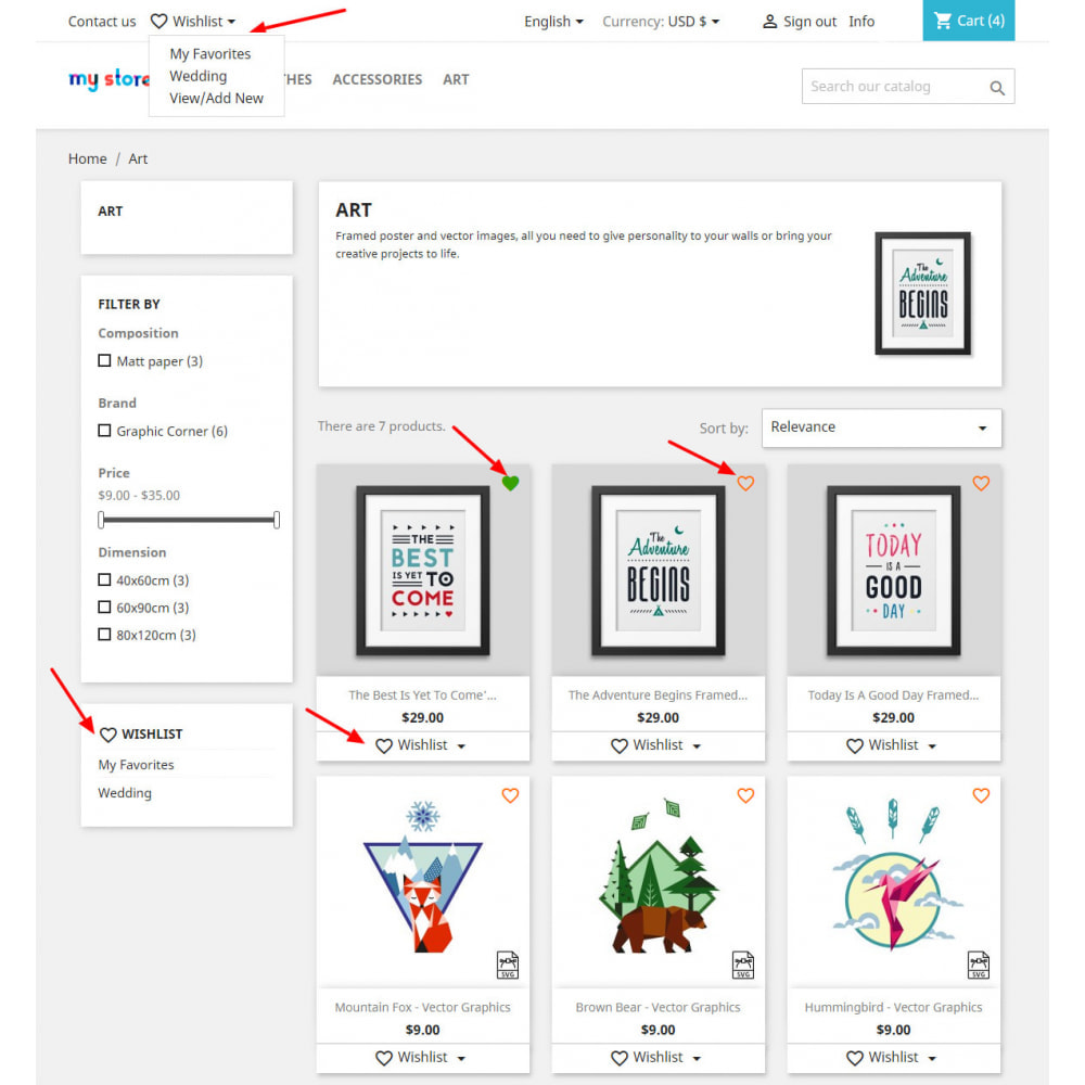 module - Liste de souhaits & Carte cadeau - Liste de souhaits avancée avec remises et notification - 1