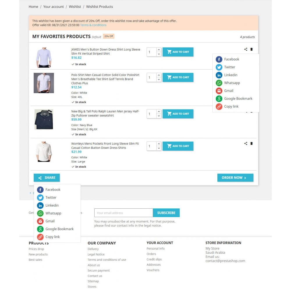 module - Liste de souhaits & Carte cadeau - Liste de souhaits avancée avec remises et notification - 2