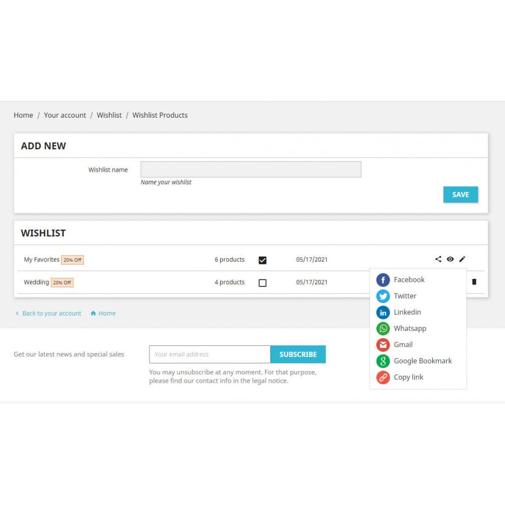 module - Liste de souhaits & Carte cadeau - Liste de souhaits avancée avec remises et notification - 8