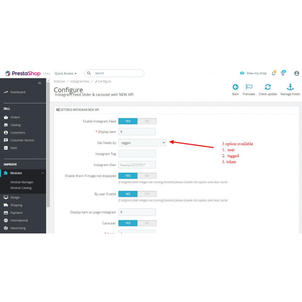 module - Social Widget - Instagram Feed Slider & Carousel with NEW API - 2