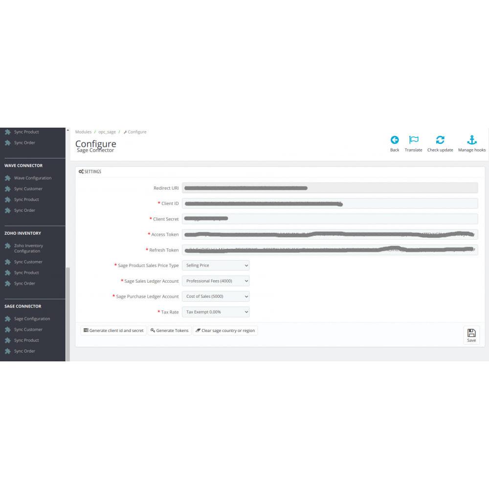 module - Соединение с внешней программой (CRM, ERP...) - Sage Connector - 1