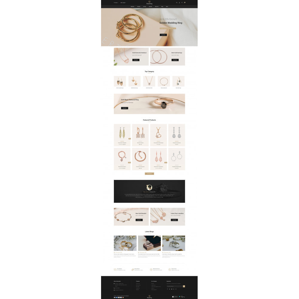theme - Jewelry & Accessories - Dazzling - Golden Jewelry Store - 2