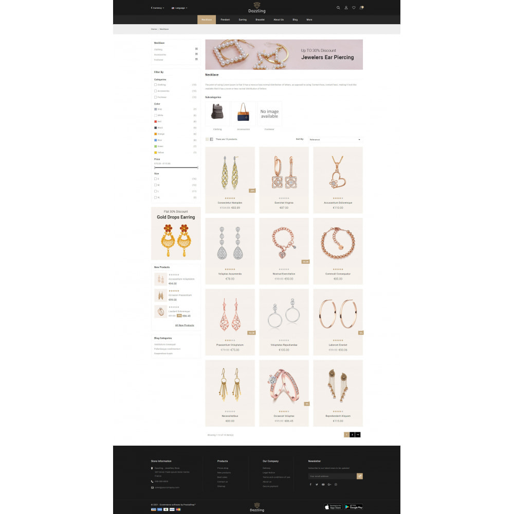 theme - Jewelry & Accessories - Dazzling - Golden Jewelry Store - 3