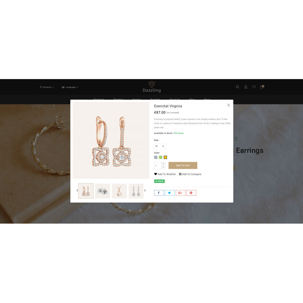 theme - Jewelry & Accessories - Dazzling - Golden Jewelry Store - 7