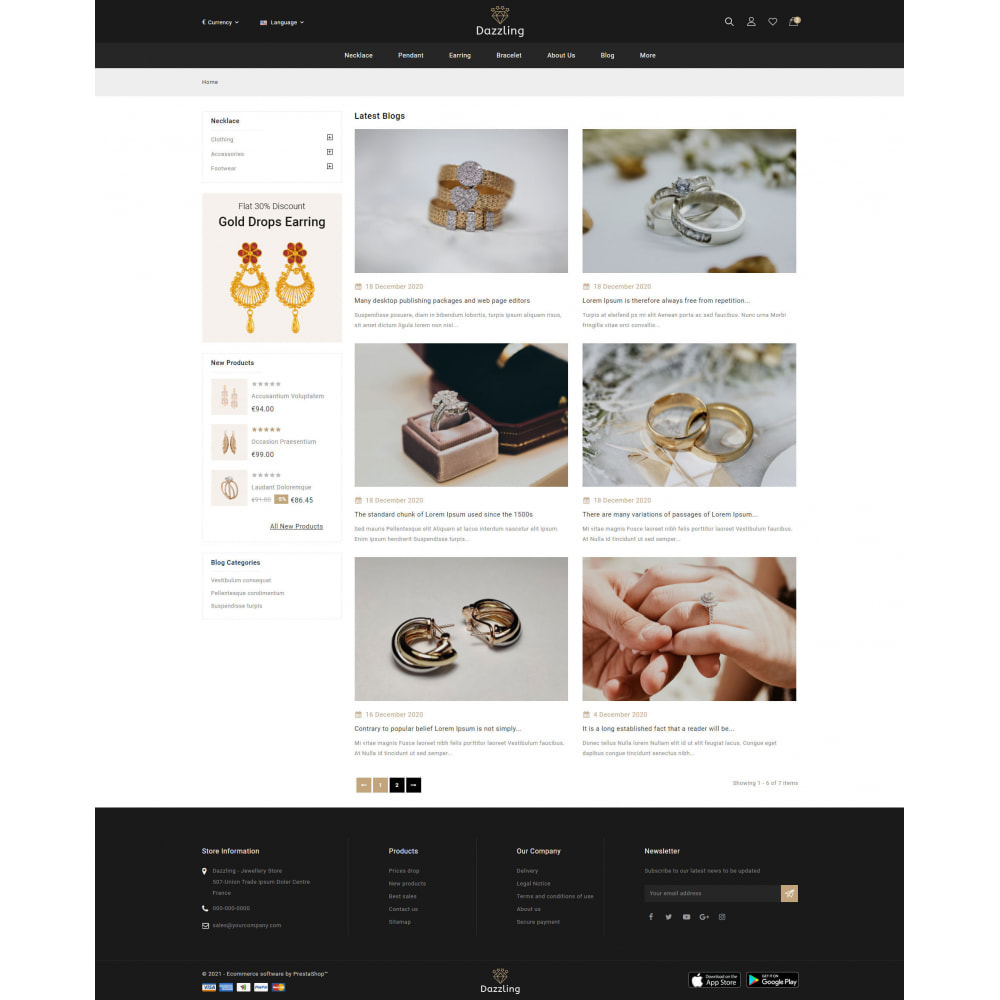 theme - Jewelry & Accessories - Dazzling - Golden Jewelry Store - 9
