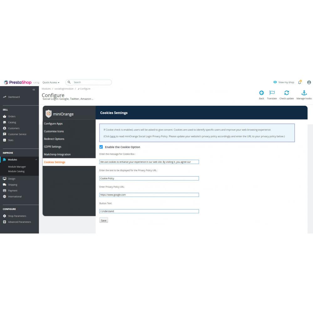 module - Social Login & Connect - Social Login & Connect, Register via +25 Apps,Mailchimp - 5