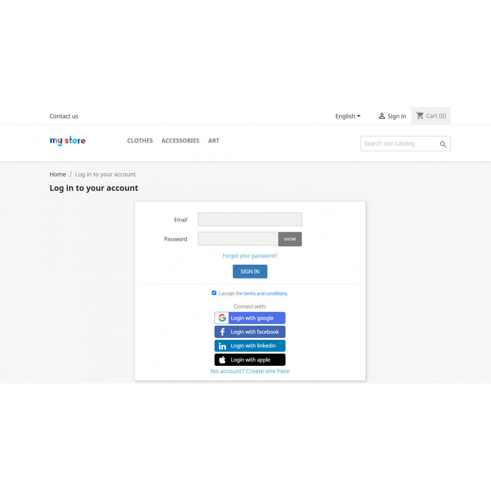module - Social Login & Connect - Social Login & Connect, Register via +25 Apps,Mailchimp - 10